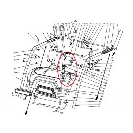 Poignée complète d'orientation de buse d'éjection