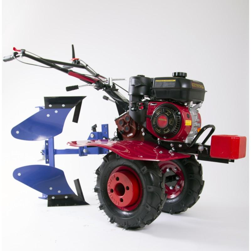 motoculteur mep900 6 5 cv avec charrue brabant et 8 fraises
