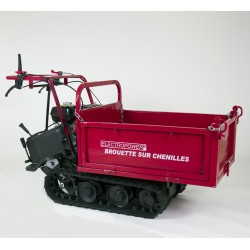 Mini dumper - Brouette motorisée à chenilles 320 kg - 6.5 CV - Essence